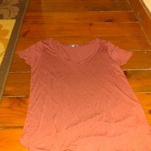 Pink v neck shirt